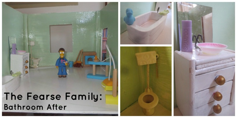 The Fearse Family: Dolls' house renovation (Bathroom)