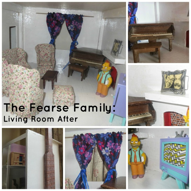 The Fearse Family: Dolls' house living room renovation