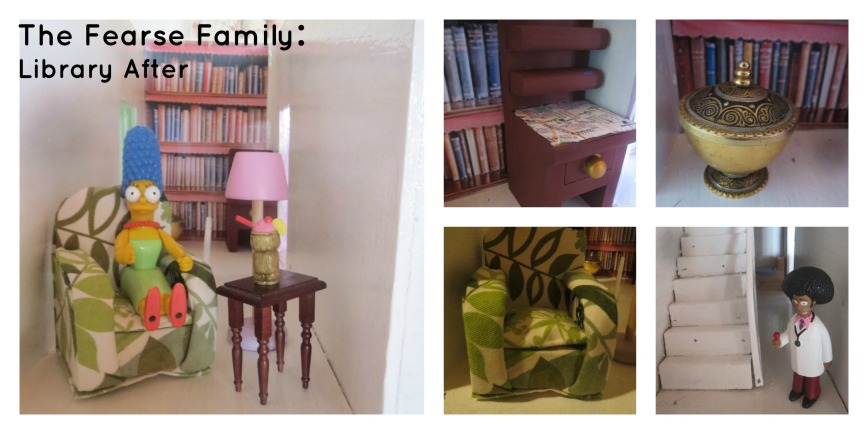 The Fearse Family: Dolls' house renovation (The Library)