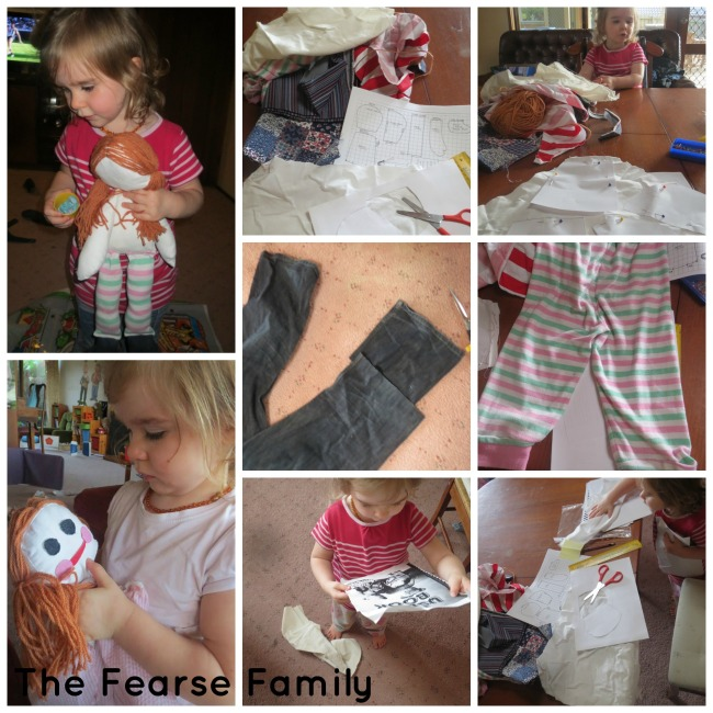 The Fearse Family DIY Scrap Material Rag Doll