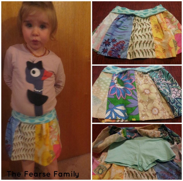 The Fearse Family DIY Vintage Scrap Patchwork SKirt