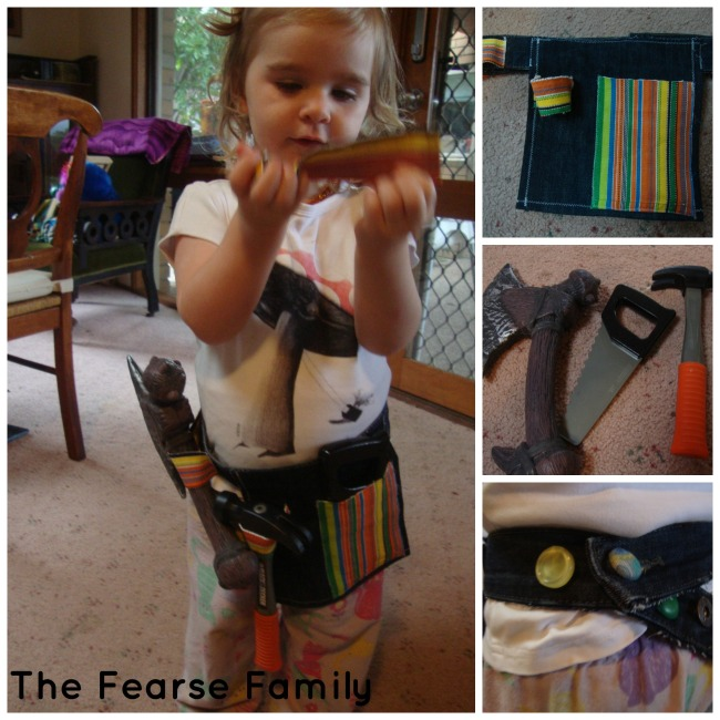 The Fearse Family DIY Old Jeans and Place Mat Tool Belt