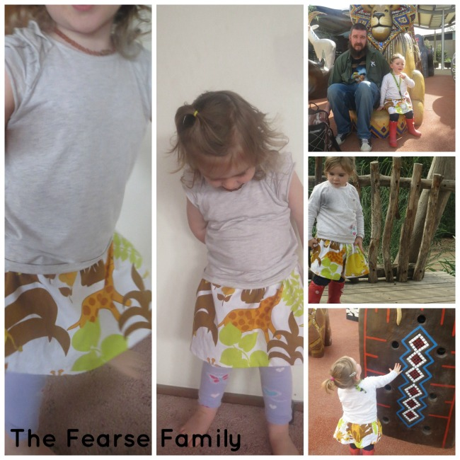 The Fearse Family DIY Vintage Curtain Material Zoo Skirt